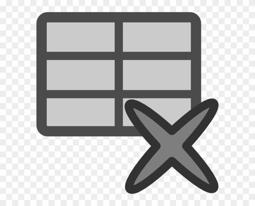 Delete Table Clip Art - Icono De Borrar Tabla #21592