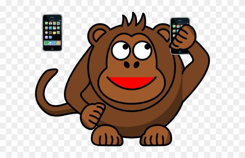 Cartoon Monkey Shower Curtain #21603
