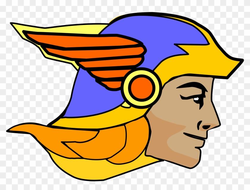 Free To Use Public Domain Religious Clip Art - Hermes Greek God Head #21621