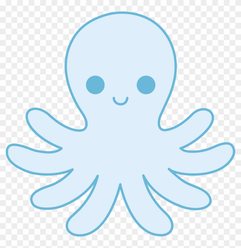 Baby Octopus Clipart - Cute Blue Octopus Clipart #21660