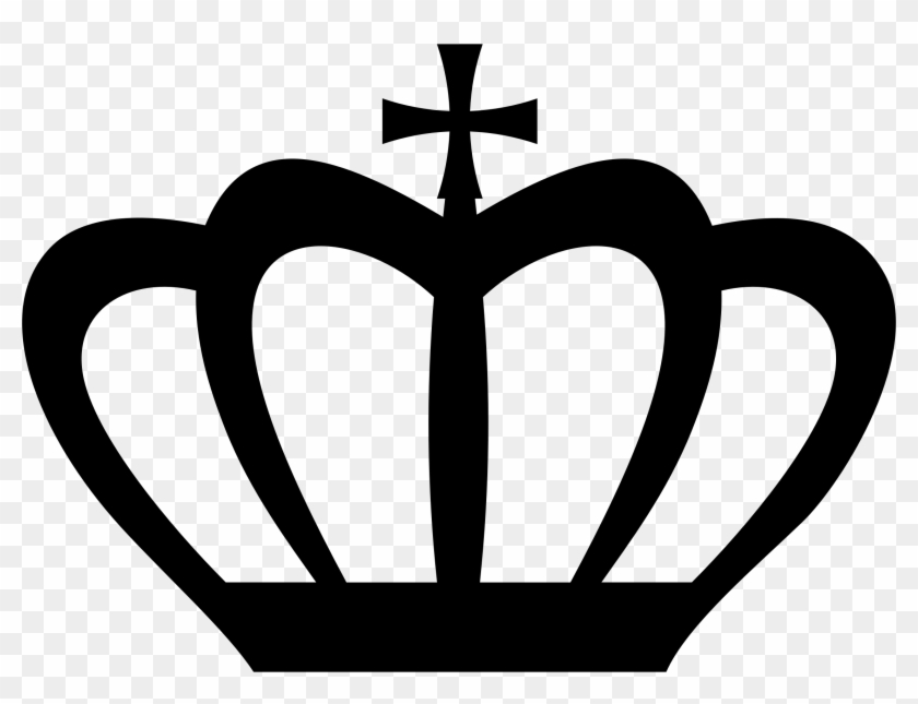 Clipart - Silhouette Crown #21659