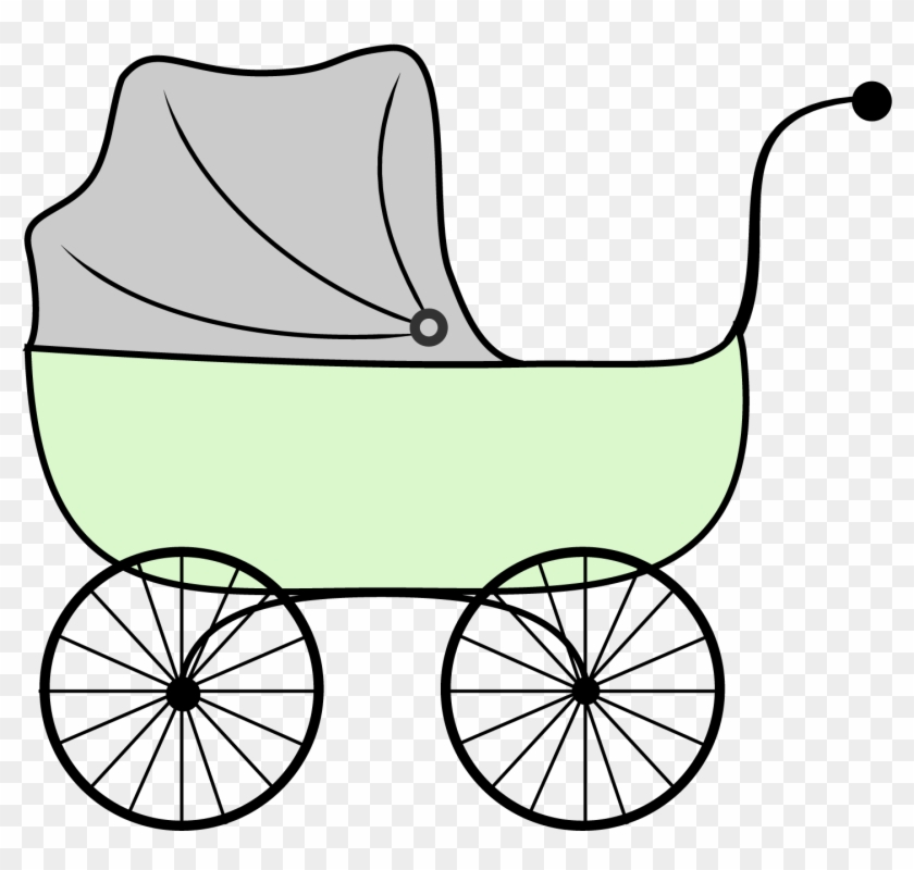 Clipart Of Baby In Stroller Free Download Clip Art - Stroller Clipart #21665