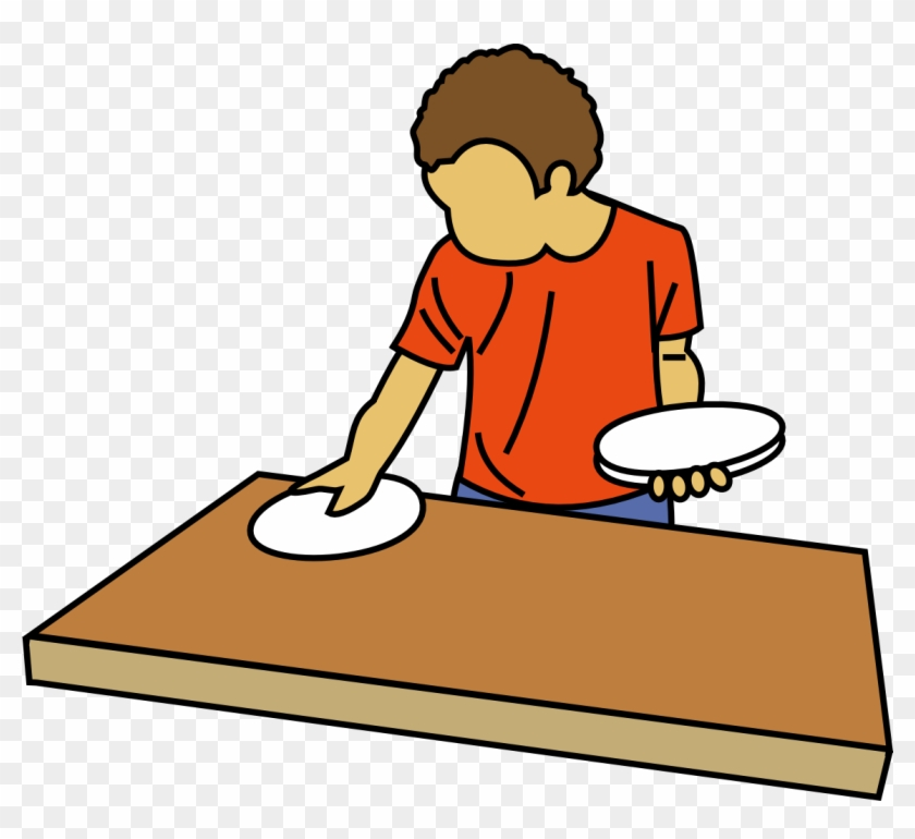 Child Clipart Cleaning Table - Set The Table Clip Art #21699