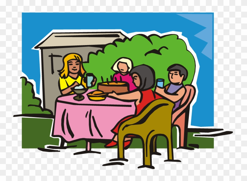 Table Eating Dining Room Dinner Clip Art - People Eating At Table Cartoon #21701