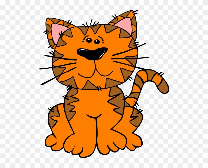 Sad Kitten Clipart Free Clipart Images - Orange Cat Clipart #21705