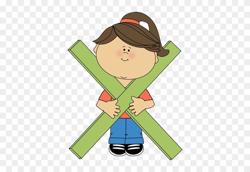 Kid Standing Behind Math Multiplication Symbol Clip - Multiplication Symbol Clip Art #21790