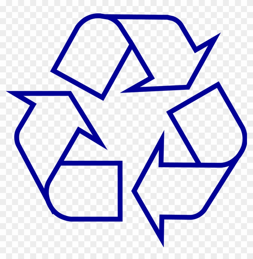 Recycling Symbol Icon Outline Dark Blue - Recycle Png #21795