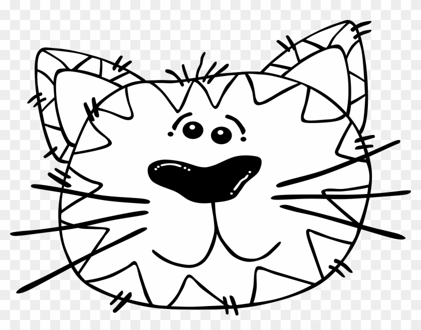 Big Image - Cat Face Coloring Page #21826