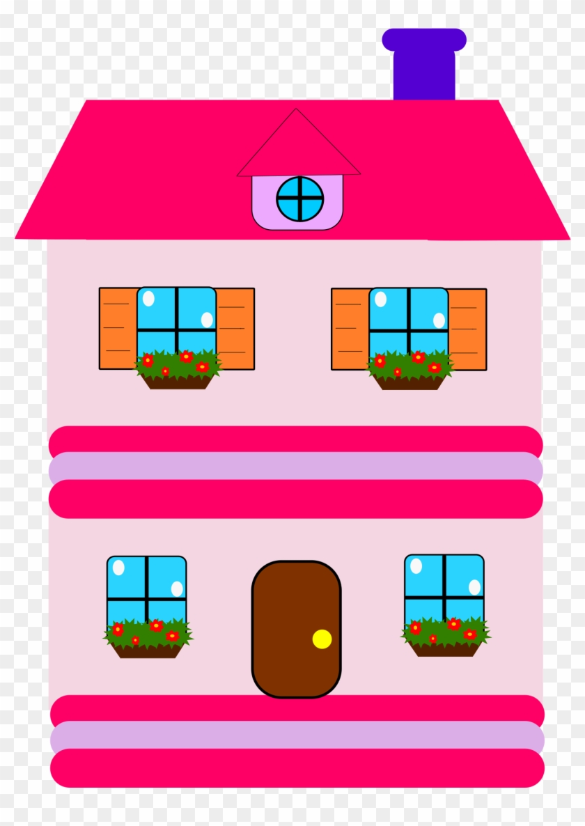 House Clip Art - Journals For 5 Year Old Girls: 6 X 9, 108 Lined Pages #21836