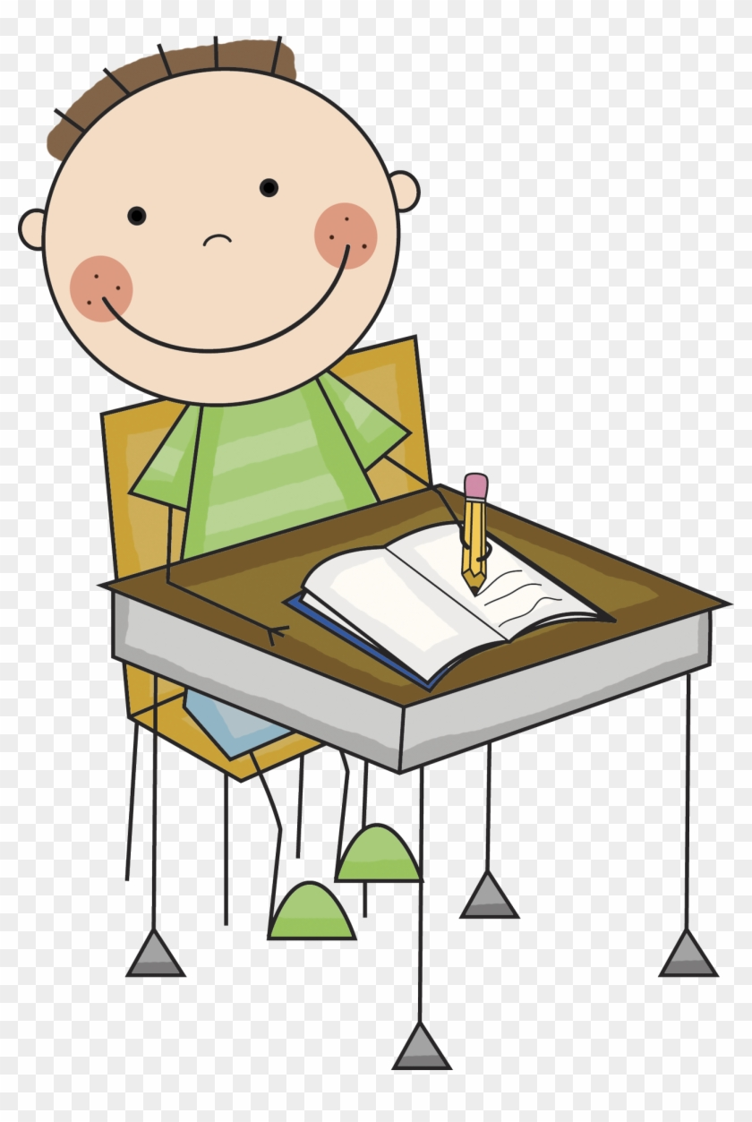 Download - Student At Desk Clip Art #21841