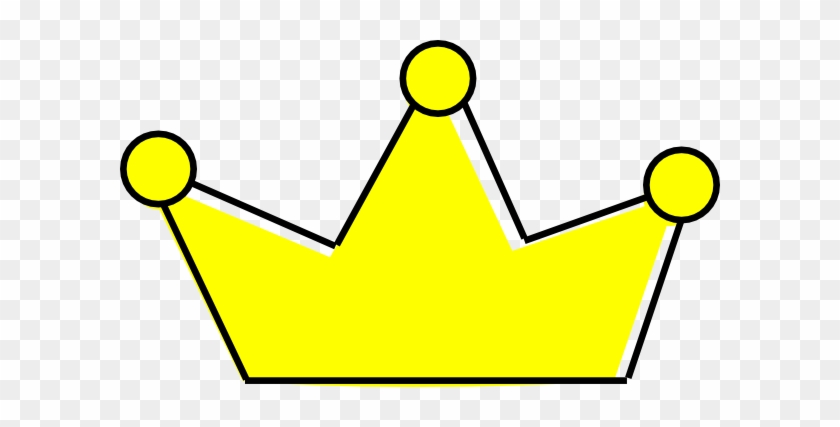 Simple Yellow Prince Crown Clipart - Yellow Crown Clip Art #21852