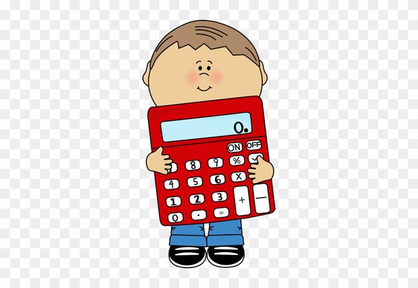 Math Clip Art Cute Math Clipart - Boy With Calculator Clipart #21887