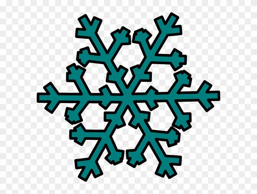Teal Snowflake Clip Art - Teal Snowflake Clipart #21902
