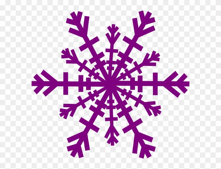 Purple Snowflake Clip Art - Purple Snowflake Clipart Transparent Background #21909