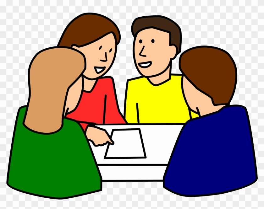 Student Working Students Working In Groups Clipart - Group Work Clipart #21922