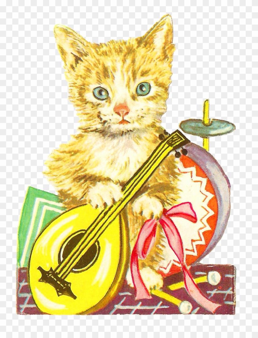 Antique Images Free Animal Graphic Antique Cat Clip - Clip Art #21929