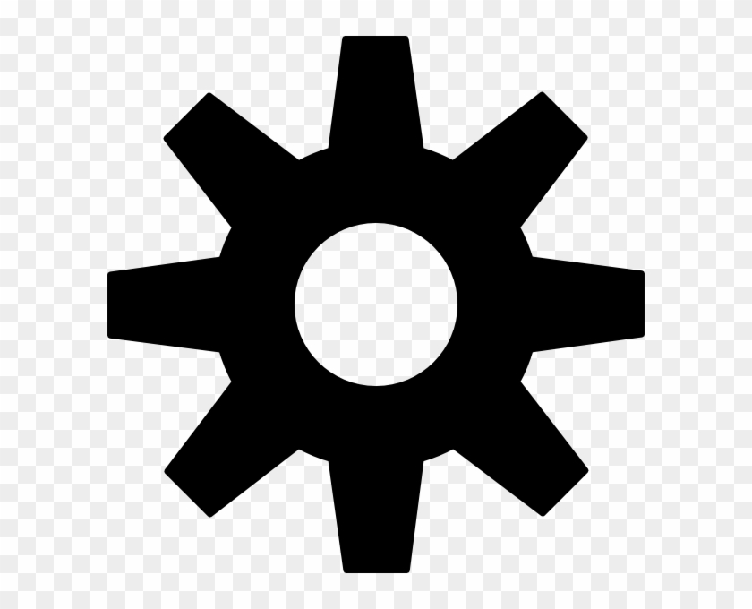 Gear Clipart Black And White #21927