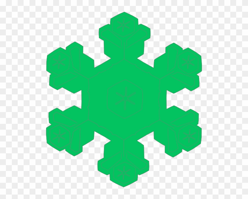 Green Snowflake Clip Art At Clker - Snowflake Clip Art Green #21943