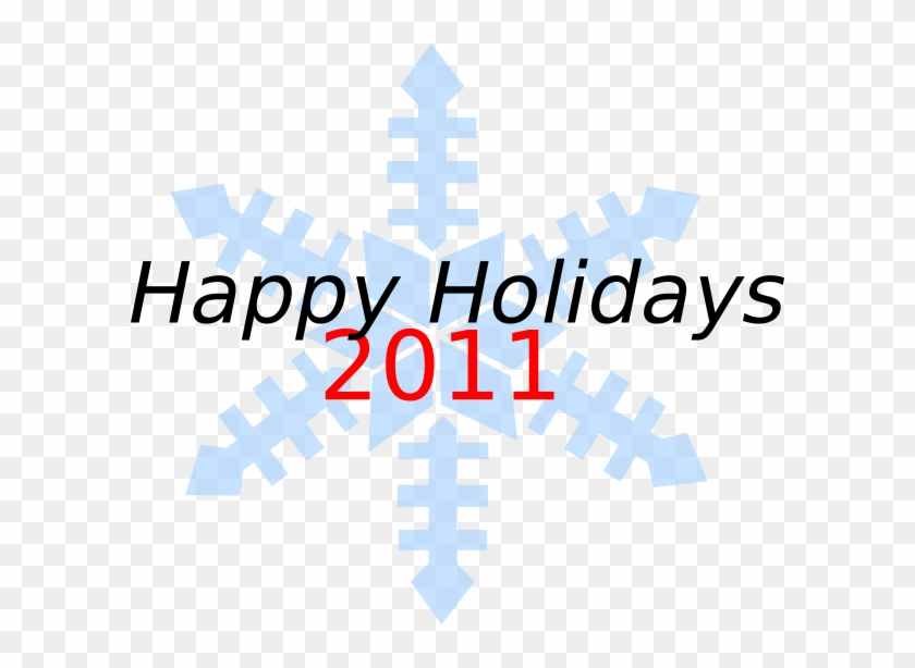 Happy Holidays Snowflake Clip Art - Happy New Year And It Partner ...