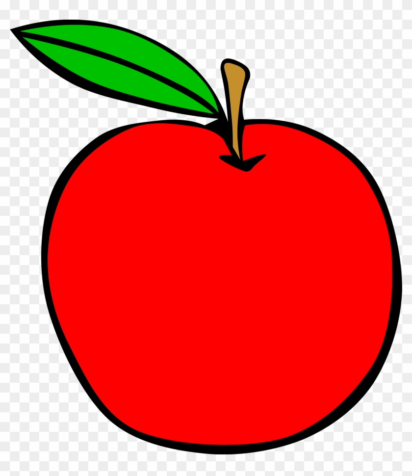 Clipart Simple Fruit Apple Clip Art - Apple Clip Art #21952