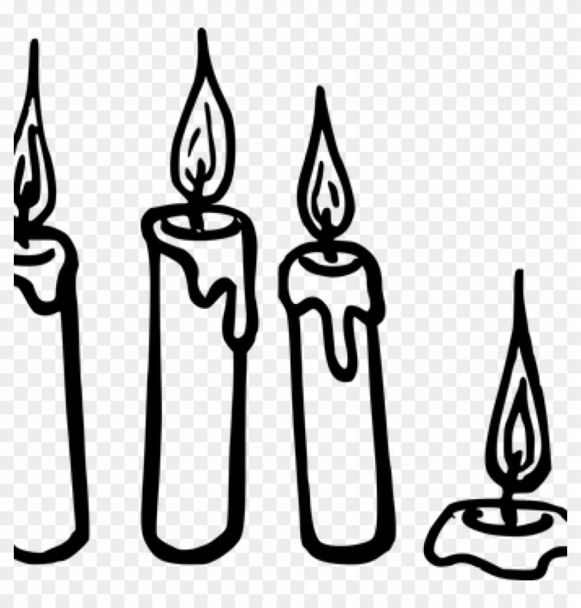 Candle Clipart Black And White Candle Vector Graphics - Icon #21960