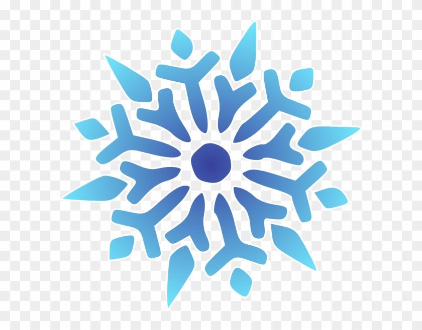 Snowflake Blue Clip Art - Snowflake Graphic Png #22002