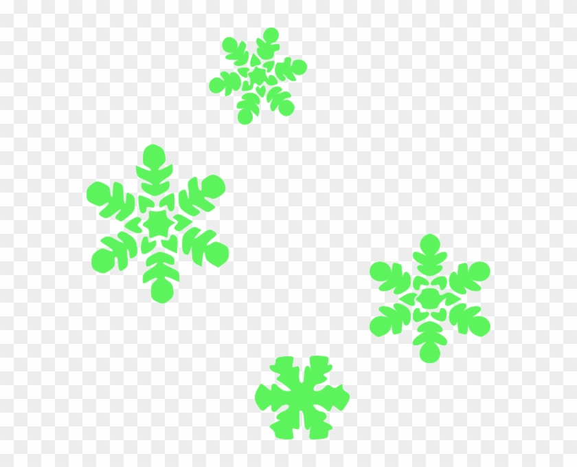 Light Green Snowflakes Clip Art - Draw A Tiny Snowflake #22005