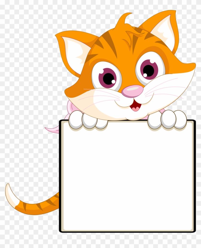 Kitty Cat Clip Art - 1 Sınıflar Için Yaka Kartlari #22013