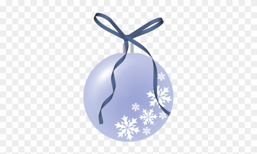 Christmas Blue Snowflake Ornament Clip Art - Christmas #22033