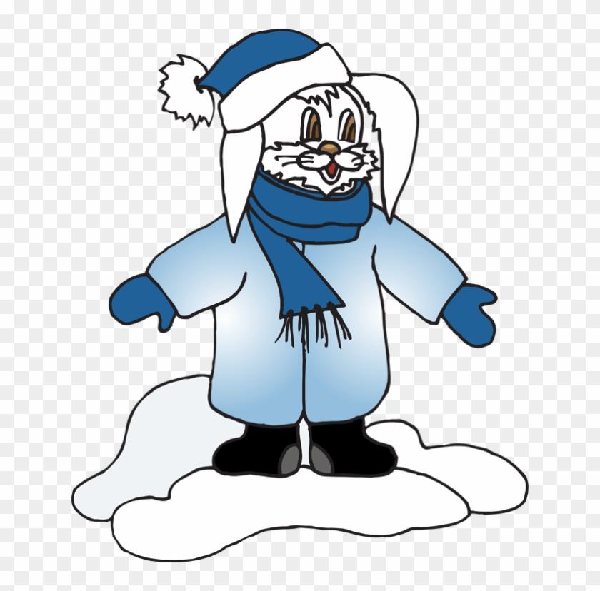Snow Rabbit Clip Art - Clip Art #22039