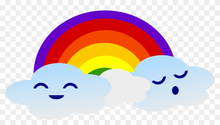 This Free Icons Png Design Of Kawaii Rainbow - Clouds With Rainbow Clipart #22049