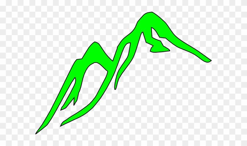 Mountain Outline Green Clip Art At Vector Clip Art - Mountain Clip Art #22051