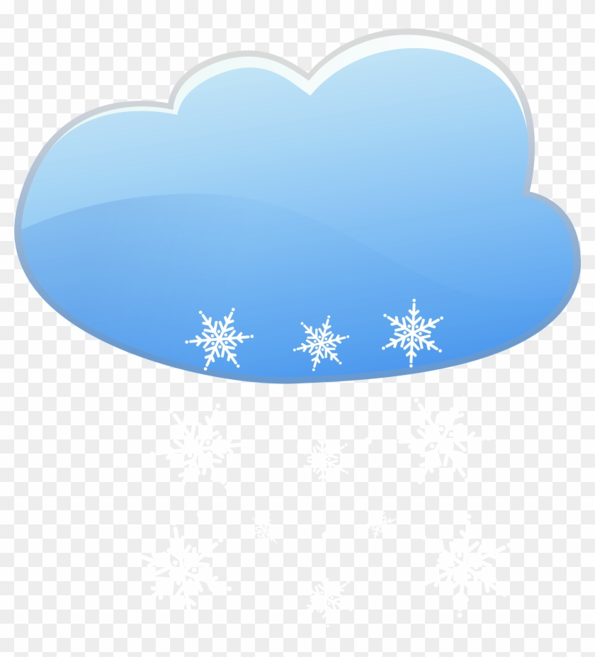 Cloud And Snow Weather Icon Png Clip Art - Cloud #22095