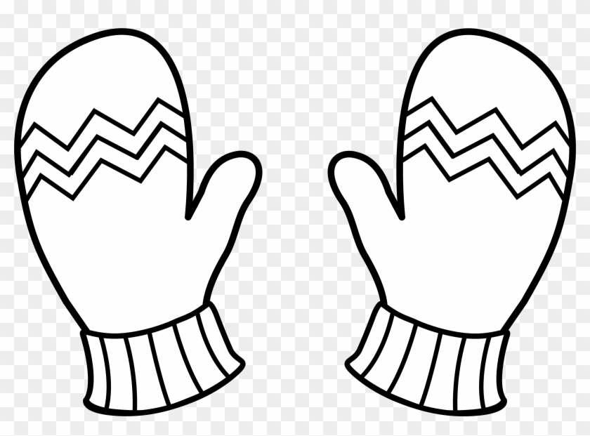 Mitten Clip Art - Gloves Coloring Pages #22111
