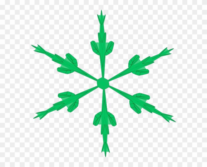 Skinny Snowflake Clip Art - Paper #22114