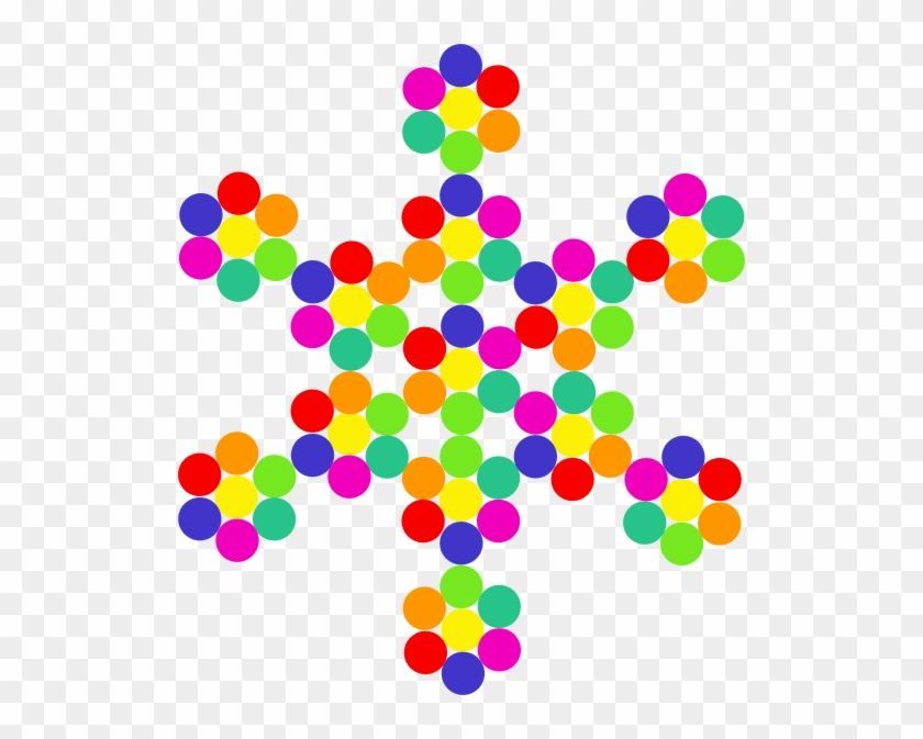 Colorful Snowflake Clipart #22132