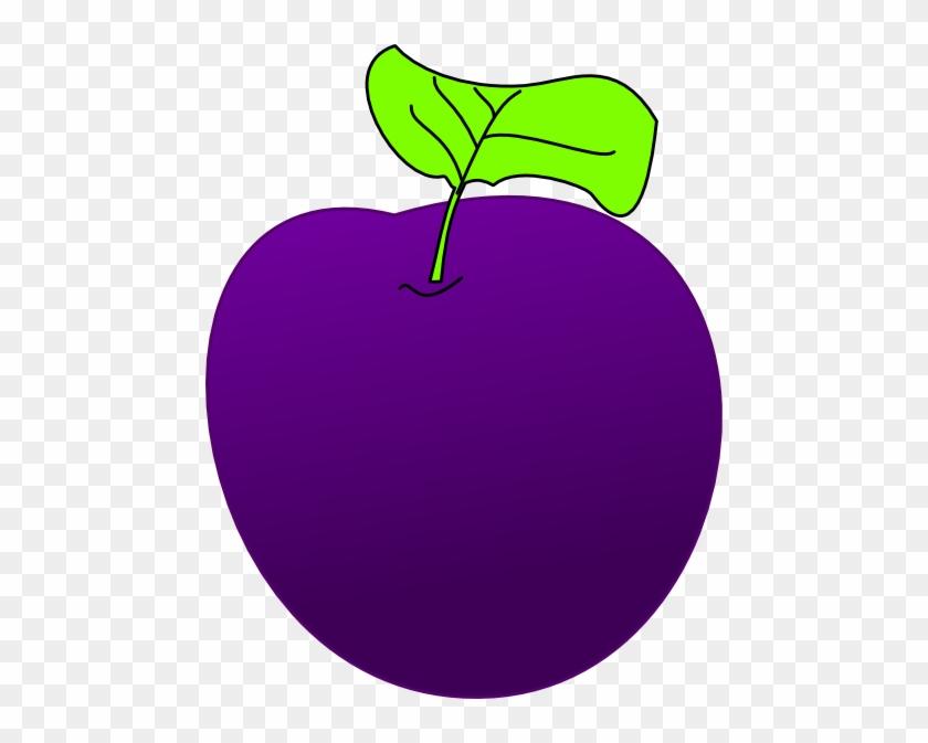 Plum Clipart - Purple Plum Clipart #22150