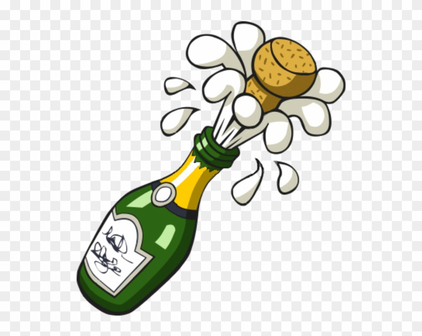 Ist Popping Champagne Bottle Image - Cartoon Champagne Bottle #22201