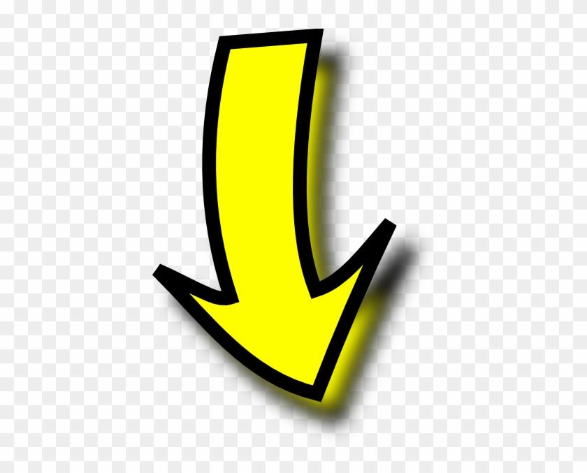 Yellow Arrow Clip Art - Yellow Arrow Png #22233