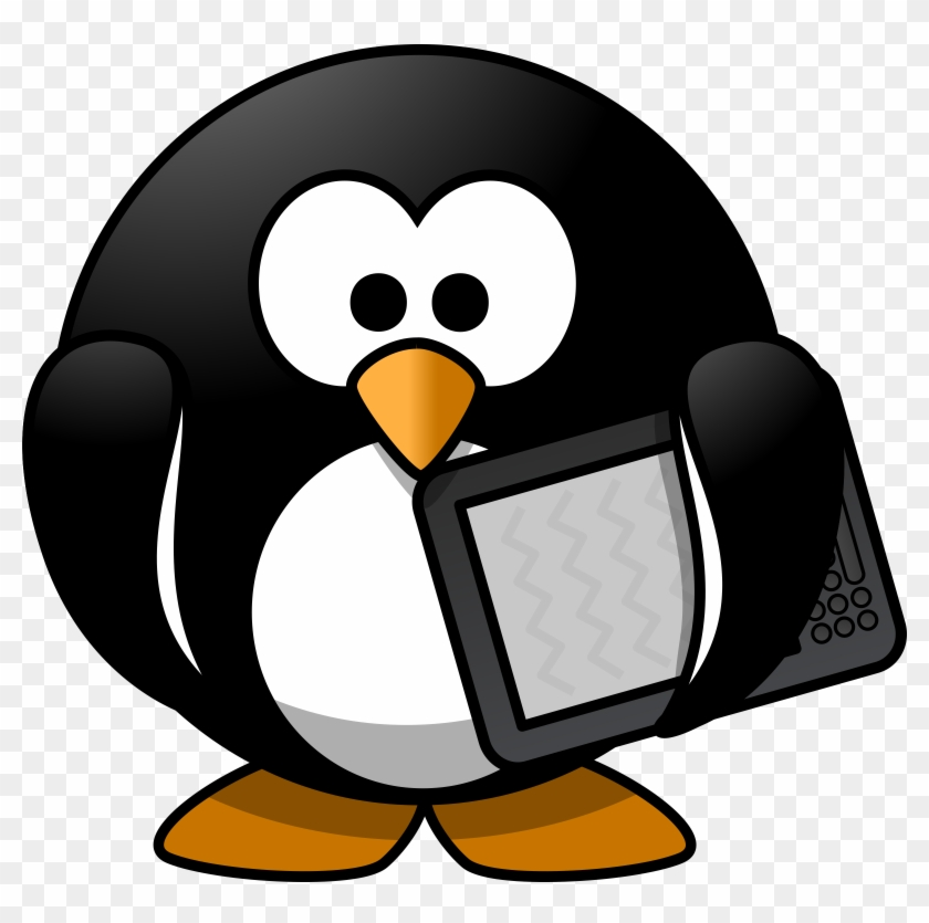 Big Image - Penguin Reading A Book #22351