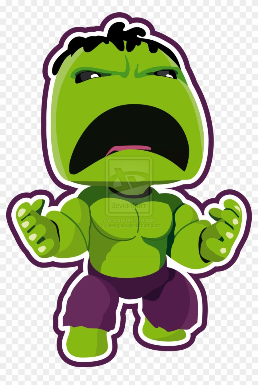 The Incredible Hulk By Josemgala On Deviantart - Cute Hulk Clipart #22378