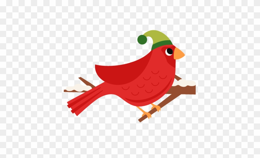 Christmas Bird Scrapbook Clip Art Christmas Cut Outs - Christmas Bird Png #22390