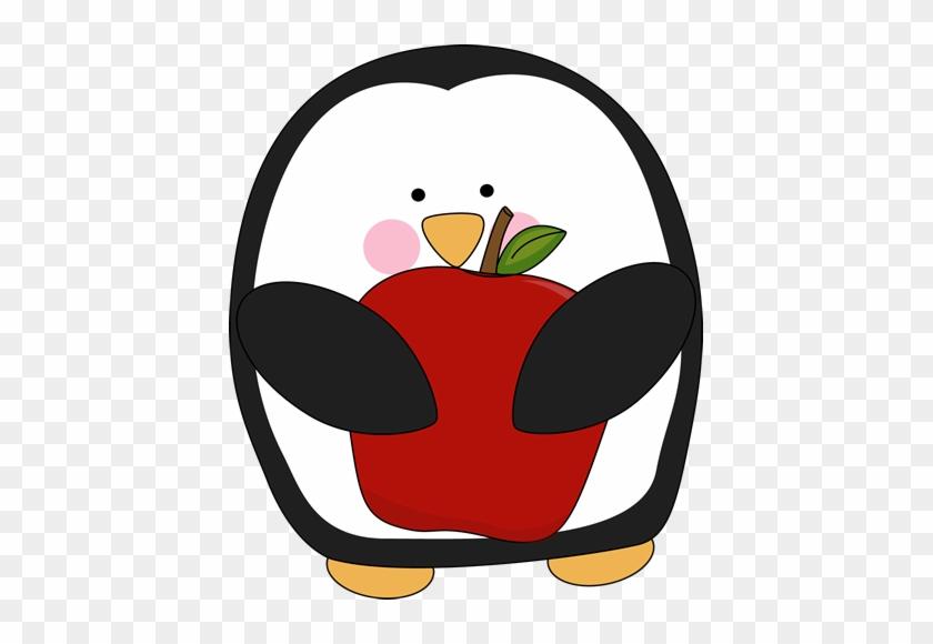Falling Penguin Clipart - Penguin Eating Clip Art #22423