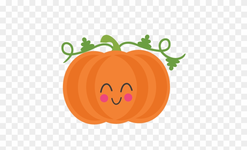 Cute Pumpkin Clipart Pumpkin Svg Scrapbook Cut File - Cute Pumpkin Clipart #22446