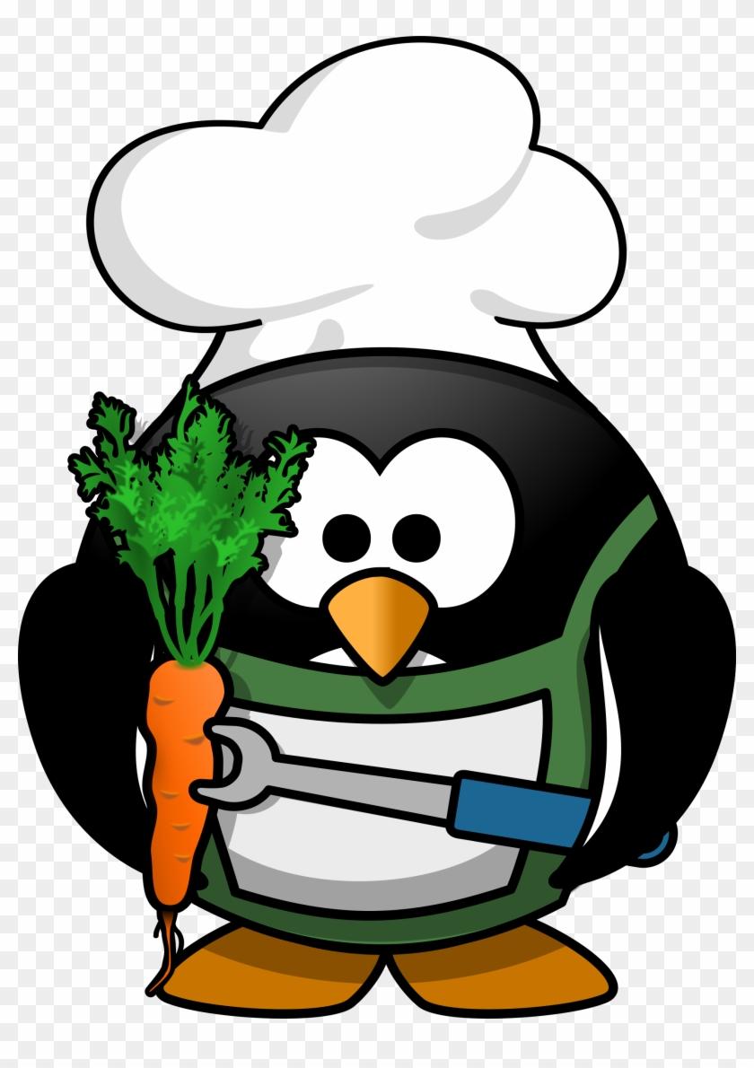 Veggie-penguin Clipart Images - Penguin Grilling #22448