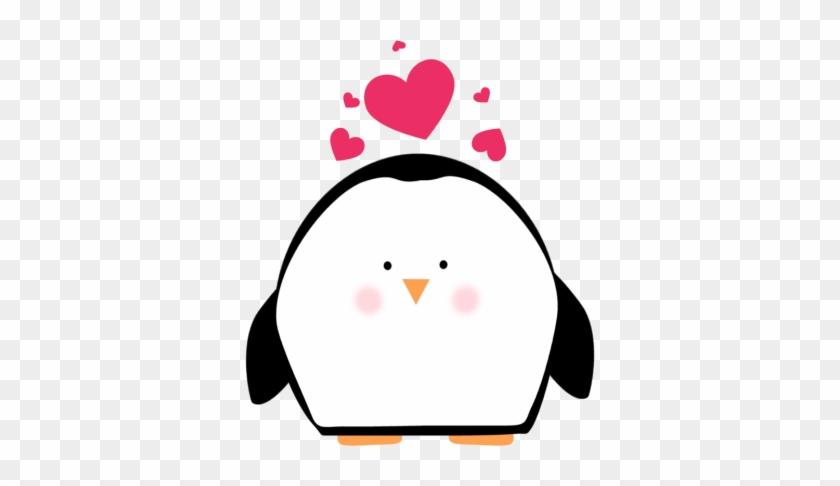 Penguin Clip Art - Cute Valentine Hearts #22449