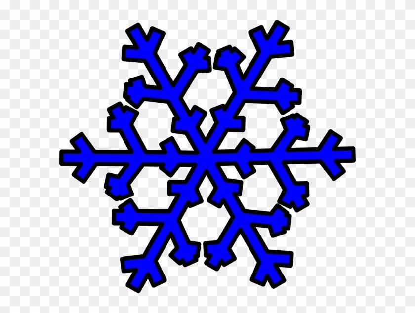 Blue Snowflake Clip Art - Dark Blue Snowflakes Clipart #22514