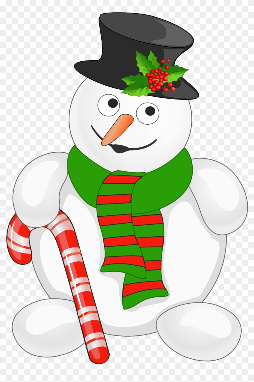 Free Candy Cane Clipart Public Domain Christmas Clip - Snowman With Candy Cane #22517