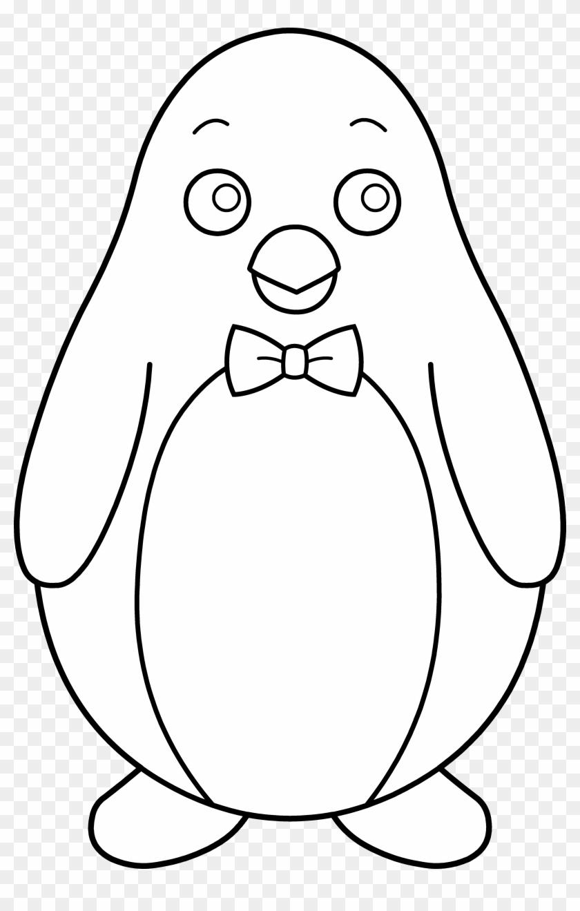 Penguin Clipart Black And White - Black And White Penguin Clip Art #22547