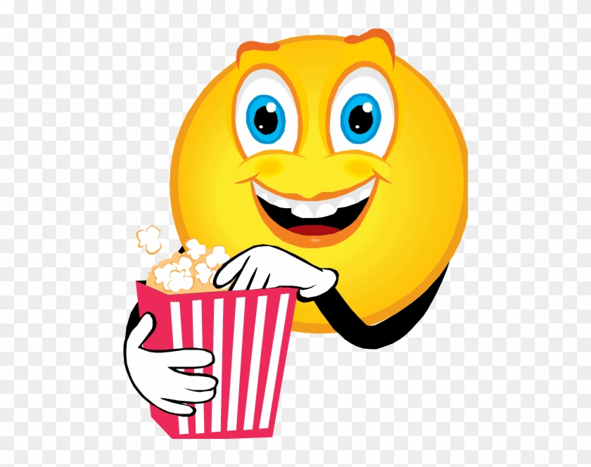 I Love Popcorn - Eating Popcorn Animated Emoticon #22539